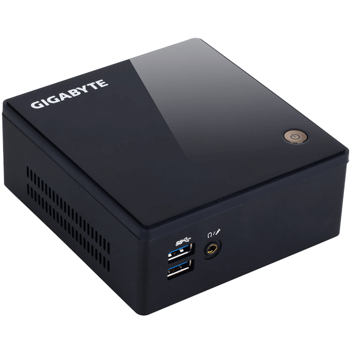 BRIX GB-BXI3H-5010 Barebone, 5th generation Intel® Core™ i3-5010U 2.1 GHz, DDR3L-1600 SODIMM 16GB /2, 1 x mSATA, 1 x SATA 6Gbps, 1 x HDMI, 1 x Mini DisplayPort, 2 x USB 3.0, GbLAN, VESA