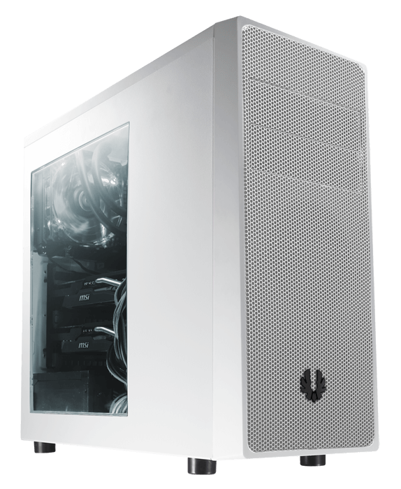 Neos Window BFC-NEO-100-WWWKW-RP White No PSU ATX Mid Tower Computer Case