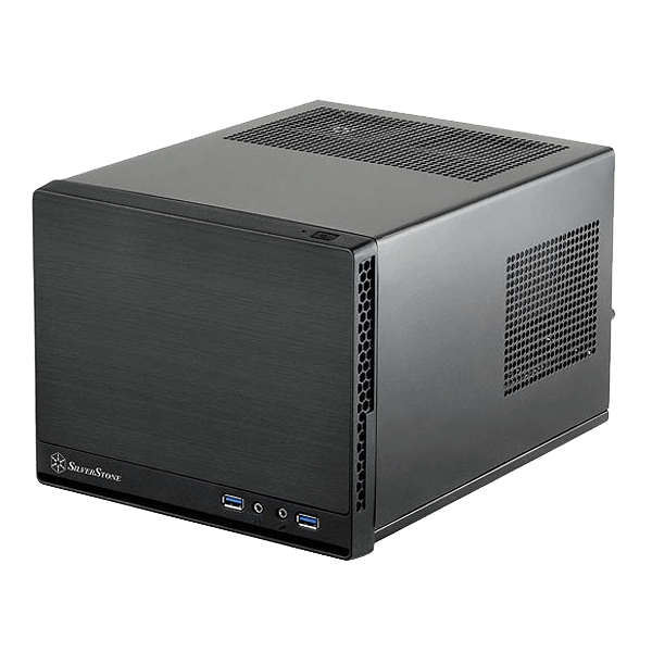 Sugo Series SST-SG13B-Q, No PSU, Mini-ITX, Black, Mini Cube Case