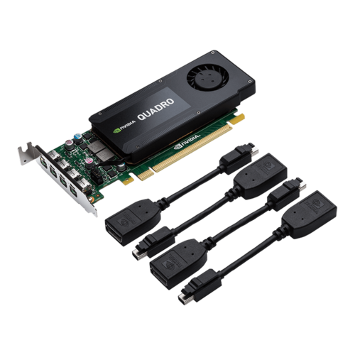 NVIDIA® Quadro® K1200, 4GB GDDR5, PCIe x16, 4 x Mini DisplayPort, Low profile Single Slot, Retail