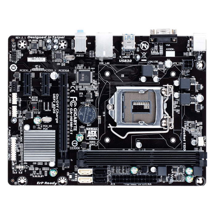 GA-H81M-S1 Intel H81 Chipset Socket LGA 1150 DDR3 16GB mATX Desktop Motherboard