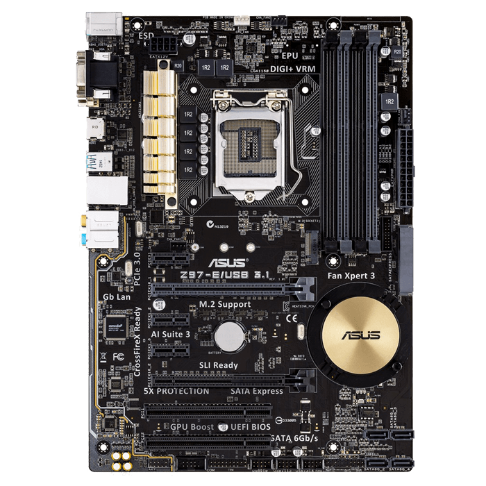 Z97-E/USB3.1 LGA 1150 Intel Z97 HDMI SATA 6Gb/s USB 3.1 USB 3.0 ATX Intel Motherboard