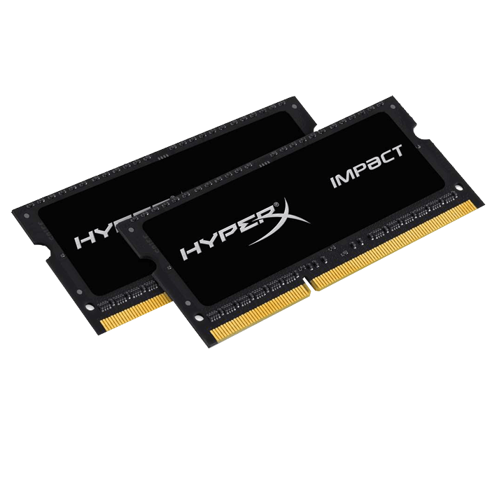8GB (2 x 4GB) HyperX Impact DDR3L 1866MHz CL11 (11-11-11) 1.35V SDRAM SO-DIMM, Non-ECC, Unbuffered Memory