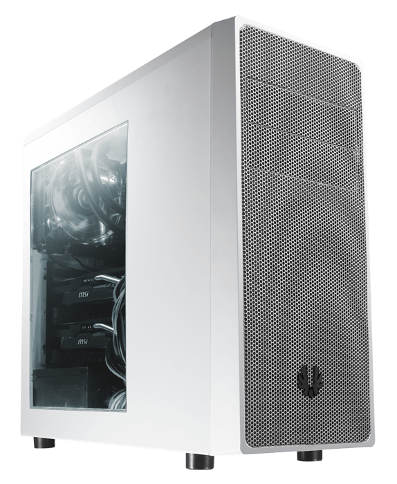 Neos Window BFC-NEO-100-WWWKS-RP White/Silver No PSU ATX Mid Tower Computer Case