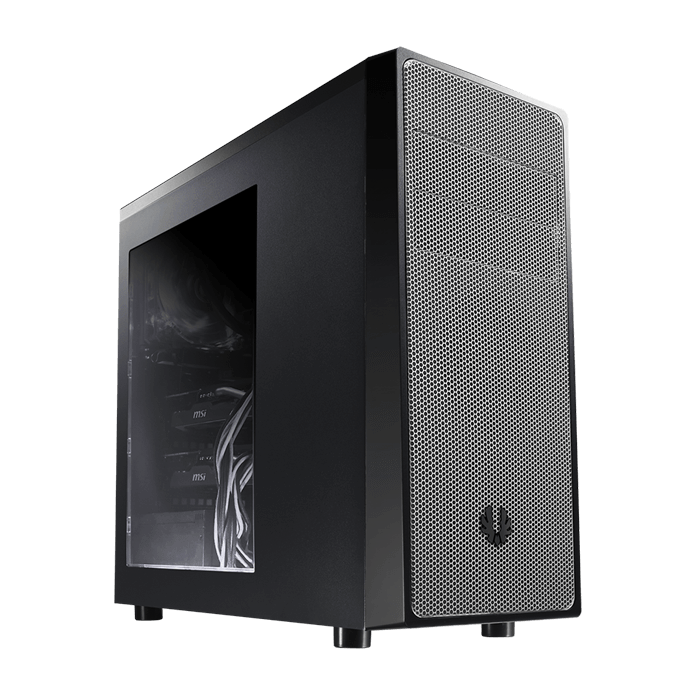 Neos Series w/ Window, No PSU, ATX, Black/Silver, Mid Tower Case