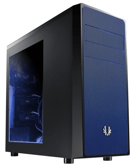 Neos Window BFC-NEO-100-KKWSB-RP Black/Blue No PSU ATX Mid Tower Computer Case