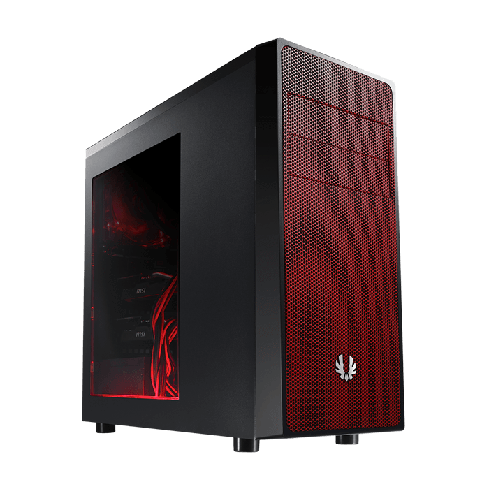 Neos Series w/ Window, No PSU, ATX, Black/Red, Mid Tower Case