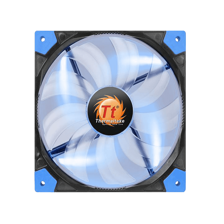 Luna 14 Slim Series Quiet Edition High Airflow 140mm w/ Blue LEDs, 1200 RPM, 38.593 CFM, 23.6 dBA Cooling Fan