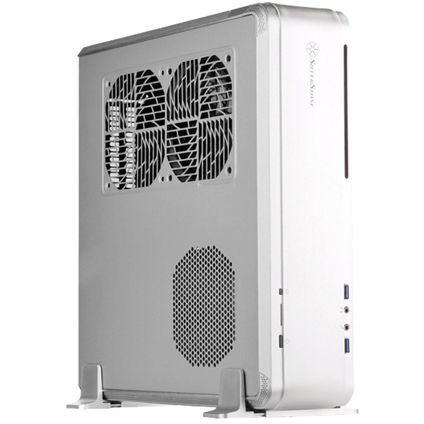 Fortress Series FTZ01 Silver, No PSU, SFX, Aluminum/Steel, Mini-ITX, Slim Computer Case