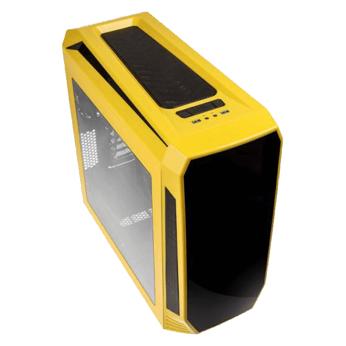 Aegis Yellow, w/o Icon Display, MicroATX, No PSU, Steel/Plastic, Mid-Tower Computer Case