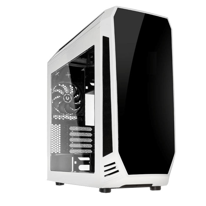 Aegis White, w/o Icon Display, MicroATX, No PSU, Steel/Plastic, Mid-Tower Computer Case