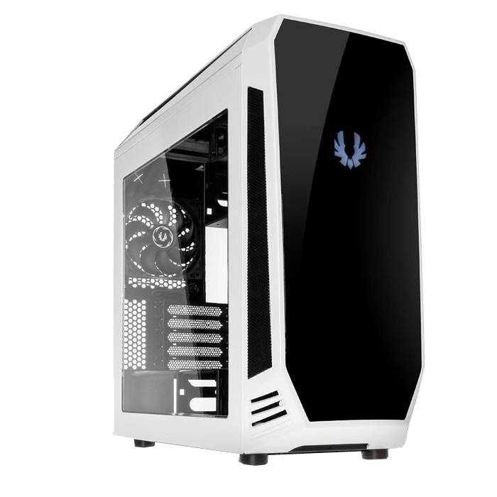 Aegis White, w/ Icon Display, MicroATX, No PSU, Steel/Plastic, Mid-Tower Computer Case
