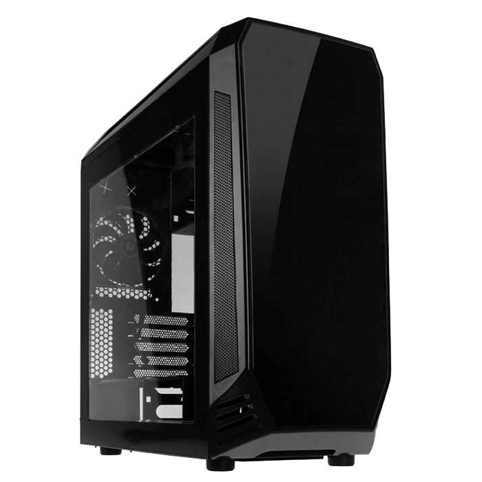 Aegis Black, w/o Icon Display, MicroATX, No PSU, Steel/Plastic, Mid-Tower Computer Case