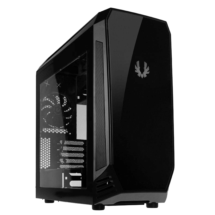 Aegis Black, w/ Icon Display, MicroATX, No PSU, Steel/Plastic, Mid-Tower Computer Case
