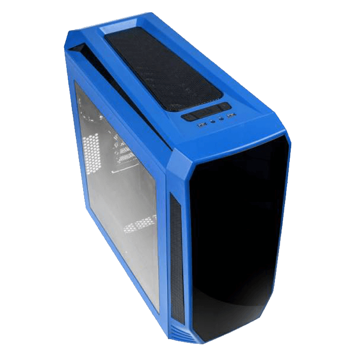 Aegis Blue, w/o Icon Display, MicroATX, No PSU, Steel/Plastic, Mid-Tower Computer Case