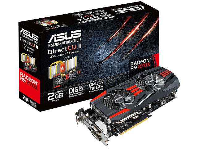 Radeon R9 270X 2GB 256-Bit GDDR5 PCI Express 3.0 HDCP Ready CrossFireX Support Video Card