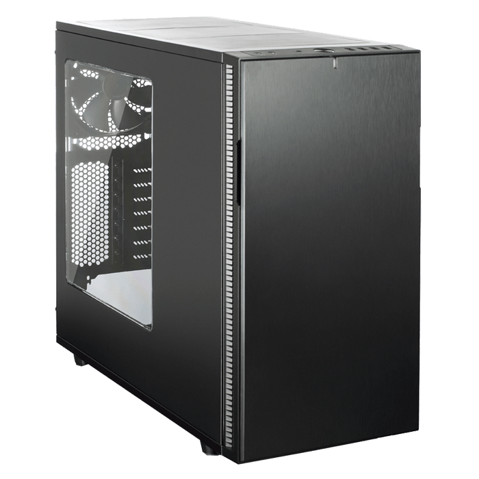 Define Series R5 Blackout Edition w/ Window, No PSU, ATX, Black, Mid Tower Case