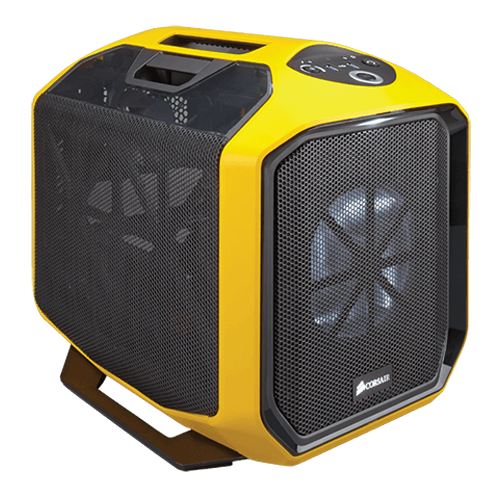 Graphite Series 380T Portable, No PSU, Mini-ITX, Black/Yellow, Mini Cube Case