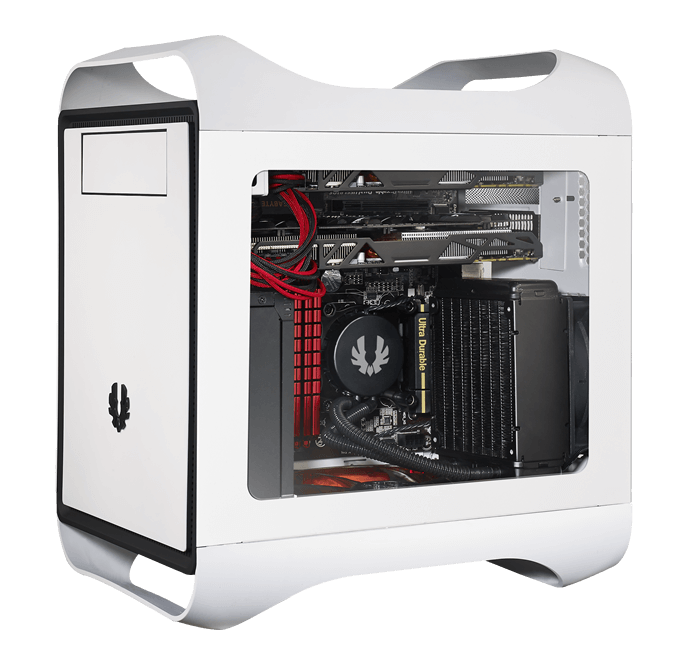 Prodigy M Window Arctic White No PSU Micro ATX Mini Tower Case