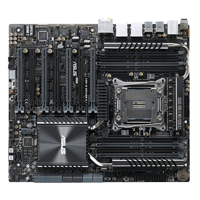 X99-E WS/USB 3.1, Intel X99 Chipset, LGA 2011-3, DDR4 128GB, M.2, USB 3.1, E-ATX Retail Motherboard