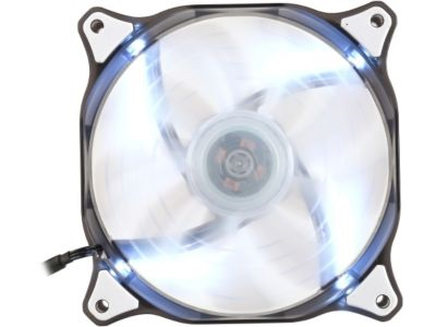 CFD Hydraulic-Bearing 120mm Case Fan w/ White LEDs, 1200 RPM, 64.37 CFM, 16.6 dBA