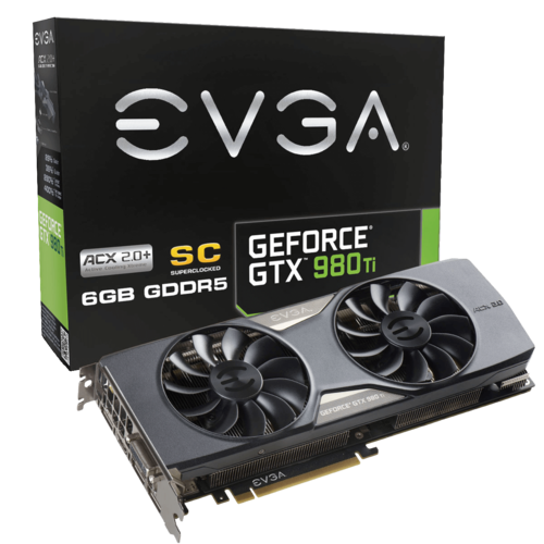 GeForce GTX 980 Ti Superclocked ACX 2.0+ 6GB 384-Bit GDDR5 PCI Express 3.0 SLI Video Card