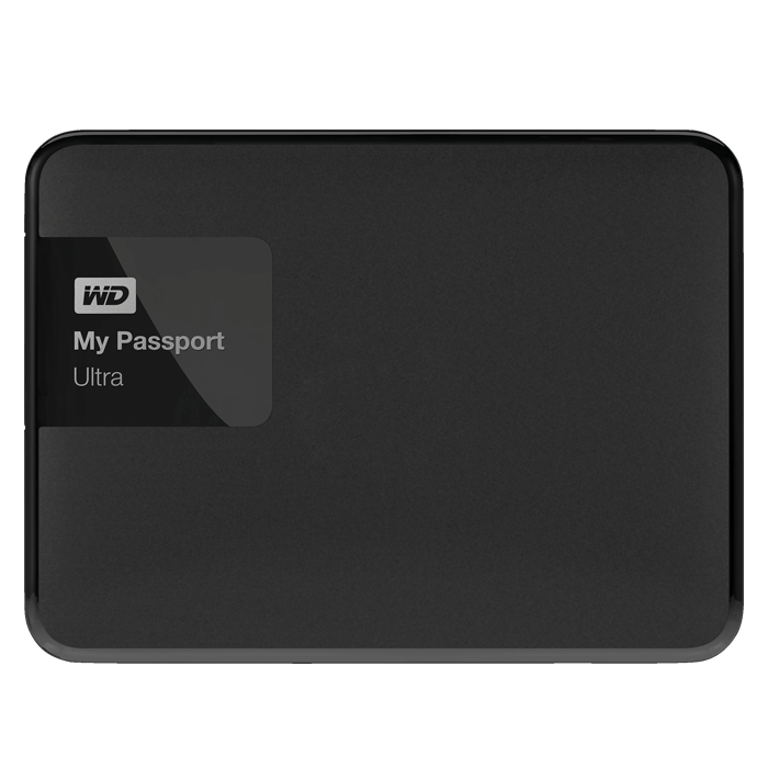 WD My Passport Ultra Black 2TB Secure portable drive with auto backup, 256 bit Encryption, USB 3.0, Retail