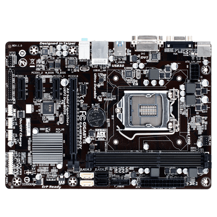 GA-H81M-D3V Intel H81 Chipset Socket LGA 1150 DDR3 16GB mATX Desktop Motherboard