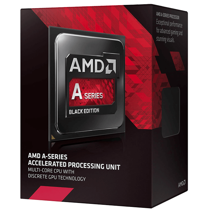 AD767KXBJCBOX - AMD A8 7670K Quad core (4 Core) 3.60 GHz Processor Socket FM2+ 4 MB Yes 3.90 GHz Overclocking Speed 28 nm AMD Radeon R7 series Graphics 95 W