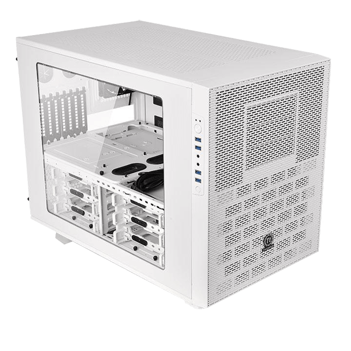 Core Series X9 Snow Edition w/ Window, No PSU, E-ATX, White, Cube Case