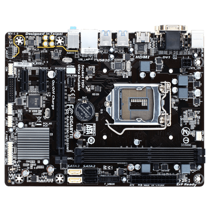 GA-H81M-S2H GSM, Intel H81 Chipset, LGA 1150, DDR3 16GB, HDMI, microATX Retail Motherboard