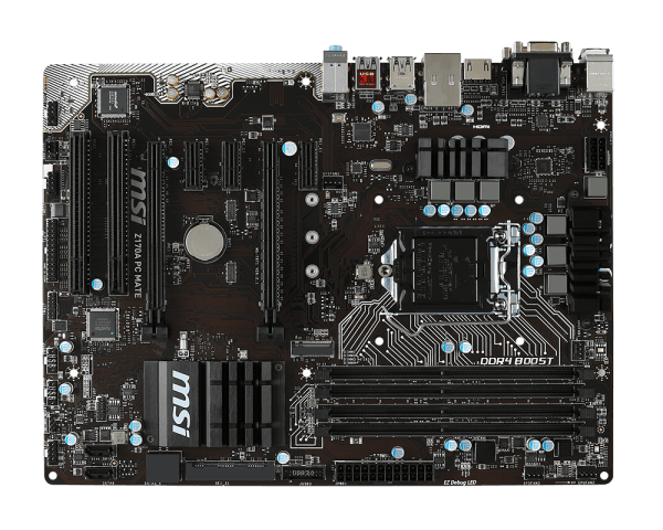 Z170A PC MATE, Intel Z170 Chipset, LGA 1151, DDR4 64GB, HDMI, M.2, USB 3.1, ATX Retail Motherboard