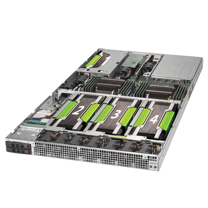 SuperServer 1028GQ-TR, 1U, Intel C612, 4x SATA, 16x DDR4, Dual 1Gb Ethernet, 2000W Rdt PSU