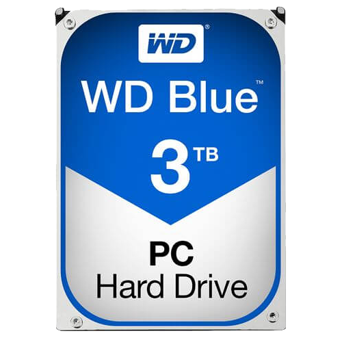 WD BLUE 3 TB Internal Hard Drive SATA 6Gb/s 5400 rpm 64 MB Buffer