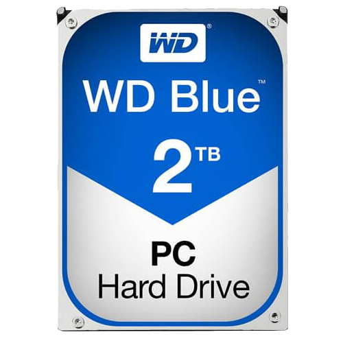WD BLUE 2 TB Internal Hard Drive SATA 6Gb/s 5400 rpm 64 MB Buffer OEM