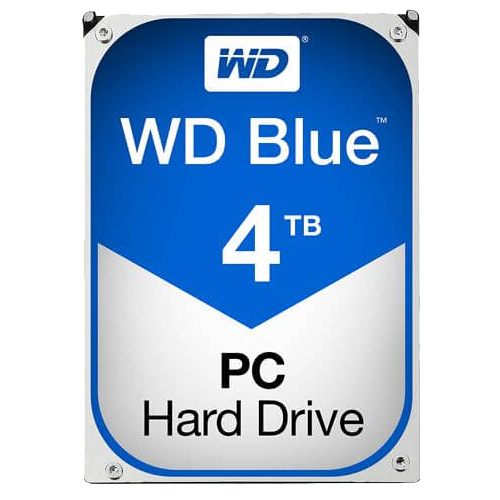 WD BLUE 4 TB Internal Hard Drive SATA 6Gb/s 5400 rpm 64 MB Buffer OEM