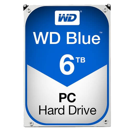 WD BLUE 6 TB Internal Hard Drive SATA 6Gb/s 5400 rpm 64 MB Buffer OEM