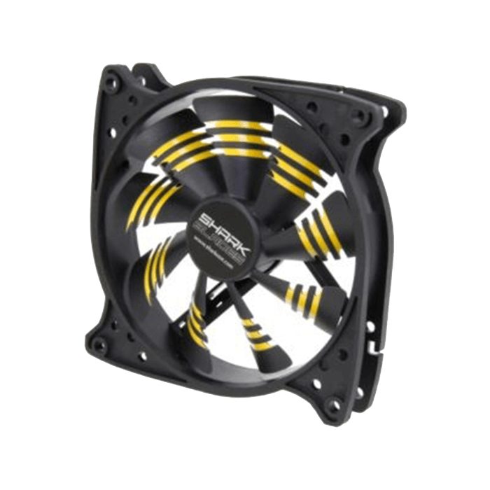 Shark Blade 120mm Cooling Case Fan Yellow