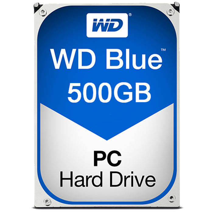 WD BLUE 500GB Internal Hard Drive SATA 6Gb/s 5400 rpm 64 MB Buffer OEM