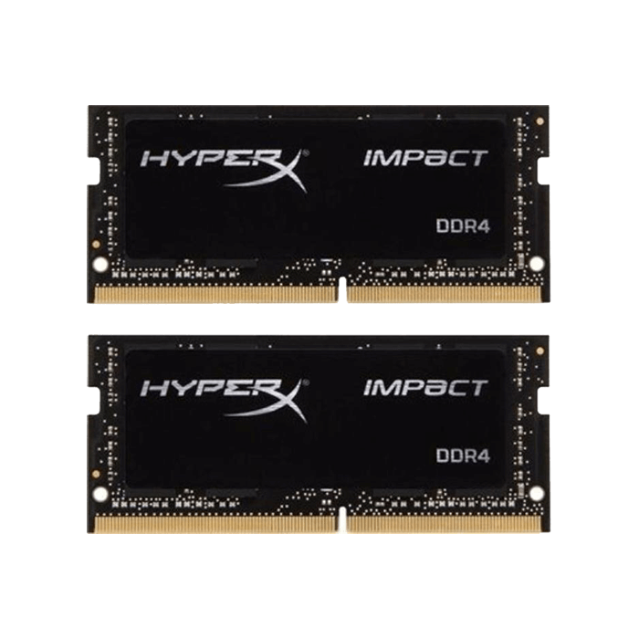 16GB Kit (2 x 8GB) HyperX Impact DDR4 2400MHz, PC4-19200, CL14 (14-14-14) 1.2V, Non-ECC, Black, SO-DIMM Memory