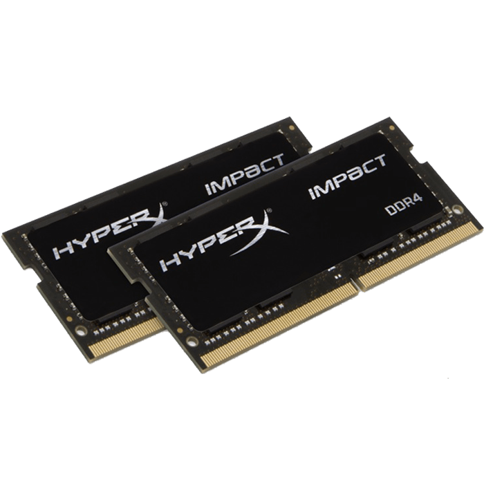 16GB Kit (2 x 8GB) HyperX Impact DDR4 2133MHz, PC4-17000, CL13 (13-13-13) 1.2V, Non-ECC, Black, SO-DIMM Memory