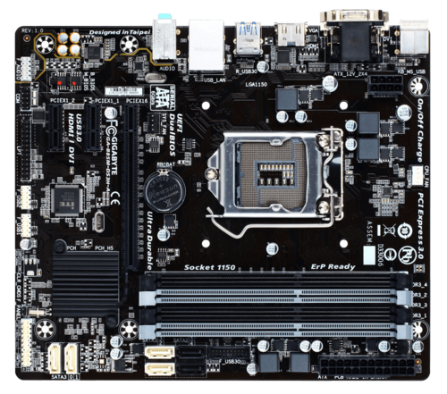GA-B85M-DS3H-A, Intel B85 Chipset, LGA 1150, DDR3 32GB, HDMI, microATX Retail Motherboard