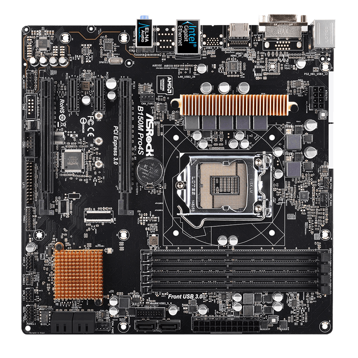 B150M Pro4S Intel B170 Chipset Socket LGA 1151 DDR4 64GB CF /1+1* mATX Desktop Motherboard
