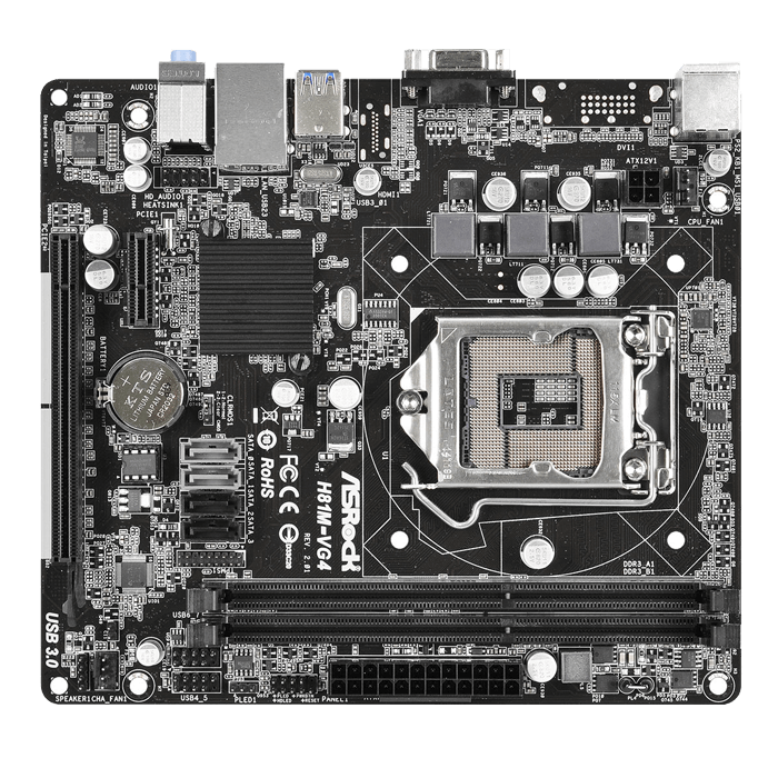 H81M-VG4 R2.0 Intel H81 Chipset Socket LGA 1150 DDR3 16GB mATX Desktop Motherboard