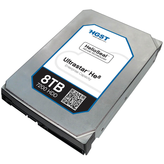 Ultrastar He8, 8 TB, Internal Hard Drive, SATA 6Gb/s, 3.5 Inch, 7200 rpm, 4KN ISE, 128 MB Buffer, OEM