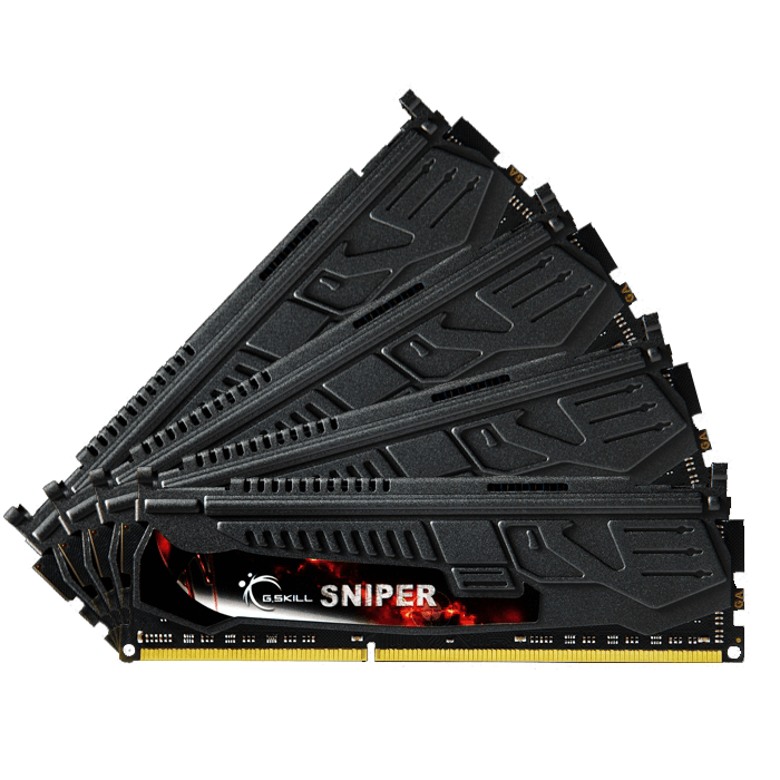 16GB (4 x 4GB) Sniper PC3-17000 DDR3 2133MHz CL9 (9-11-10-28) 1.60V SDRAM DIMM, Non-ECC, Unbuffered Memory