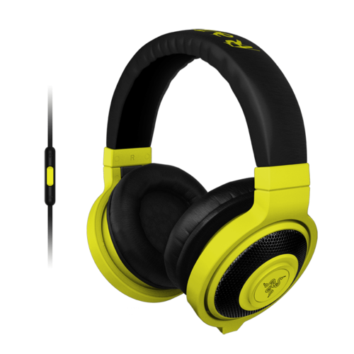 Kraken, Neon Yellow, Retail Gaming Headphones