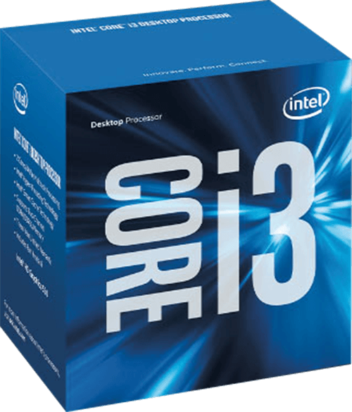 Core i3-6100 Dual-Core 3.7GHz, HD Graphics 530, LGA 1151, 3MB L3 Cache, DDR3L / DDR4, 14nm, 47W, Retail Processor