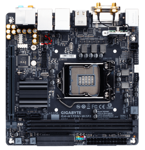 GA-H170N-WIFI Intel H170 Chipset Socket LGA 1151 DDR4 32 GB Mini ITX Desktop Motherboard