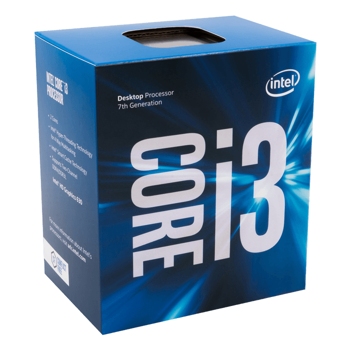Core i3-7100 Dual-Core 3.9GHz, HD Graphics 630, LGA 1151, 3MB L3 Cache, DDR3L / DDR4, 14nm, 51W, Retail Processor